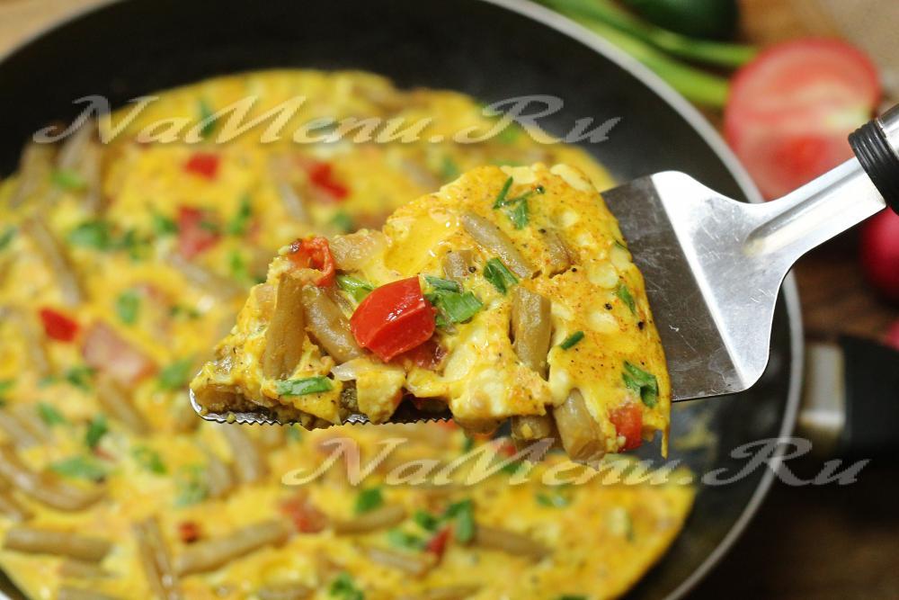 Фасоль с яйцом рецепт в духовке