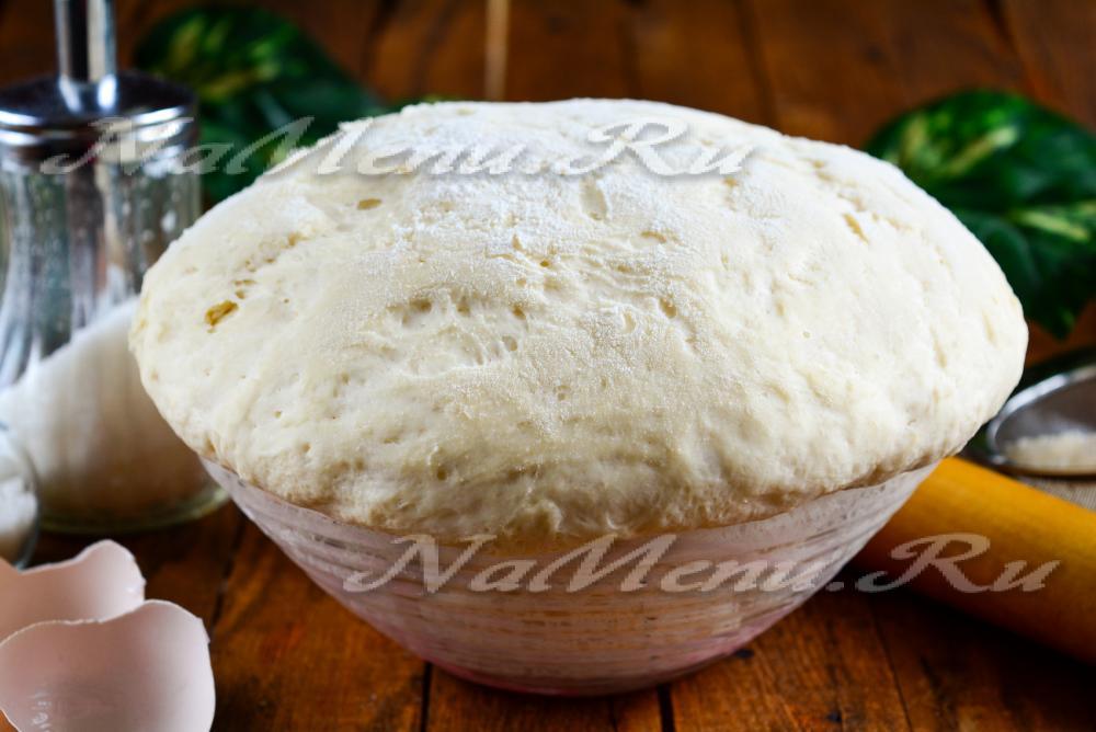 Тесто с сухими дрожжами для пирожков в духовке рецепт с пошагово