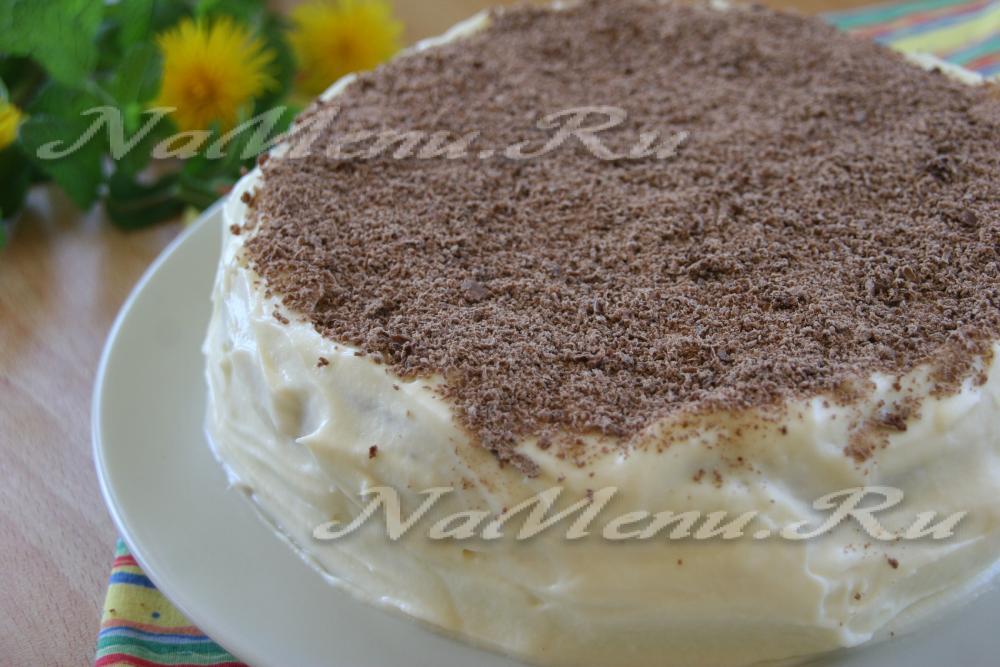 Рецепт торта сметанник пошагово в домашних условиях