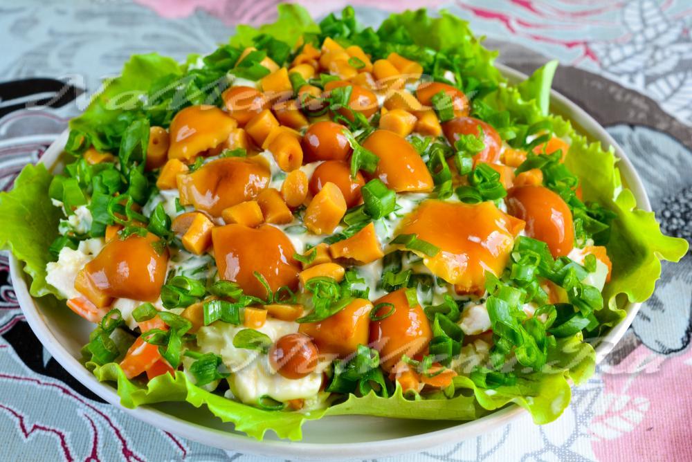 Салат полянка с курицей