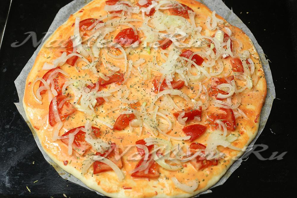 Пицца с фаршем помидорами сыром рецепты
