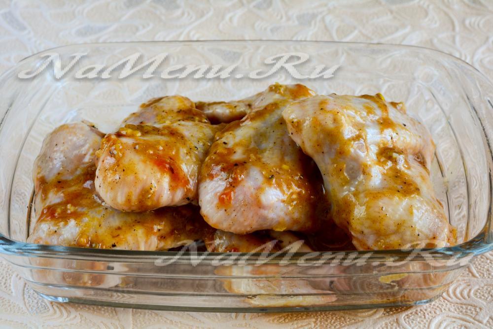 крылышки в медово горчичном соусе в духовке рецепт с фото