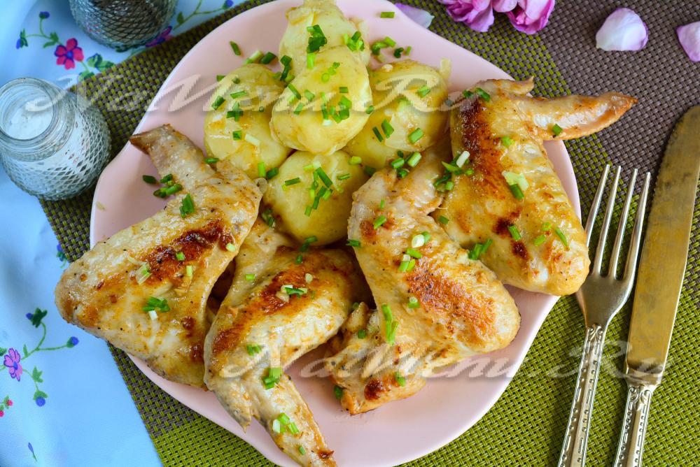 Крылья в соево медовом соусе на сковороде рецепт
