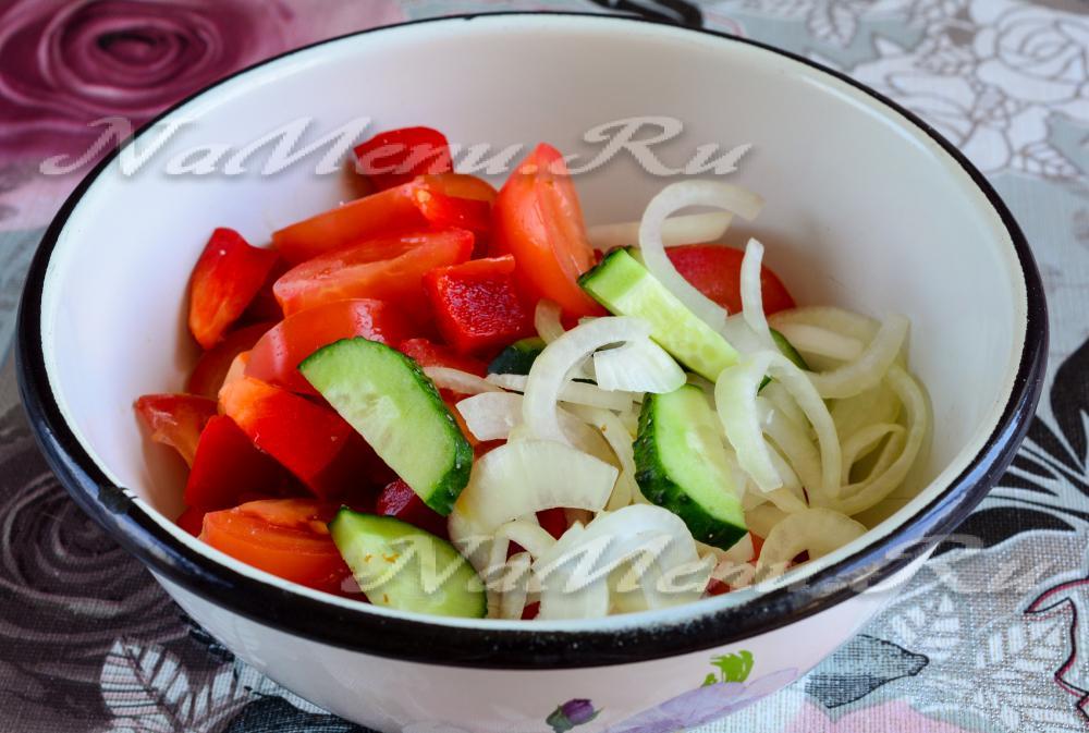Греческий салат рецепт с фетаксой пошаговый рецепт
