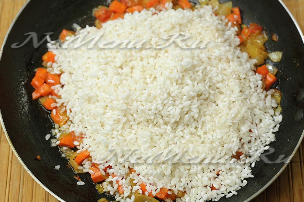 рис в духовке с оващами и курицей питомцы Луны