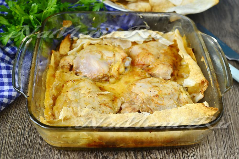 Курица в лаваше рецепт