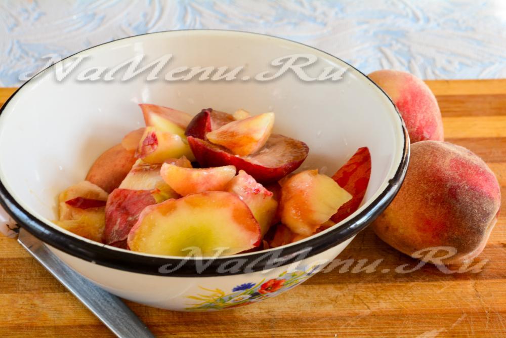 Варенье из персиков на зиму пятиминутка