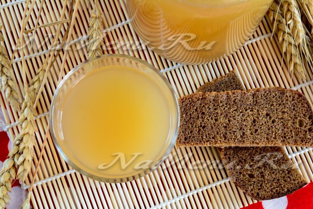 Как приготовить квас из хлеба в домашних условиях без 647