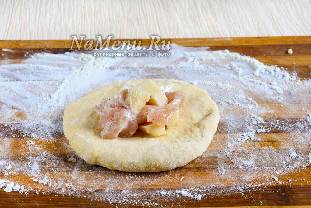 Самса с курицей с картошкой пошаговый рецепт с фото