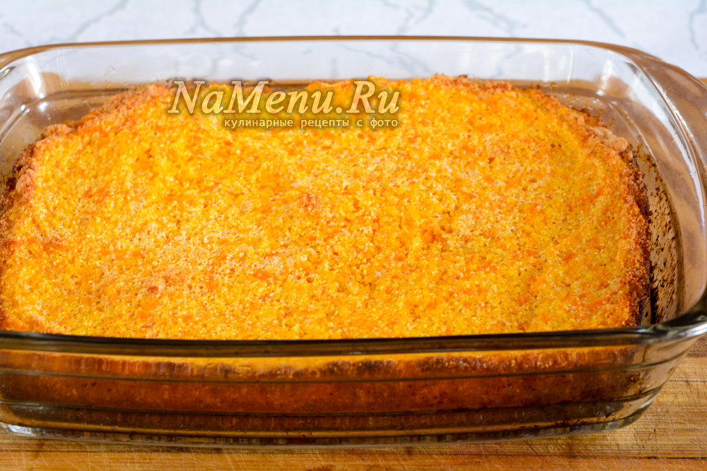 Морковная запеканка с манкой рецепт