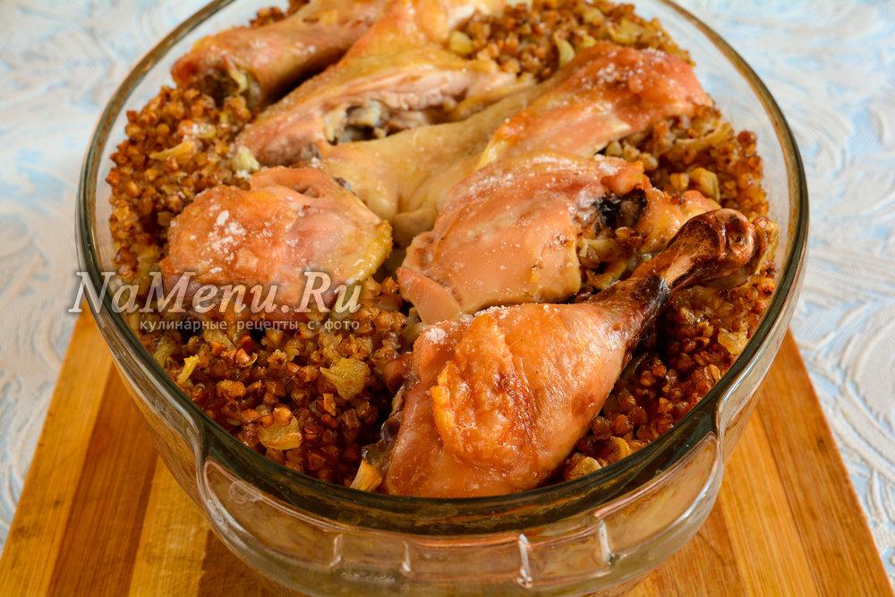 Сосиски с гречкой в духовке рецепт
