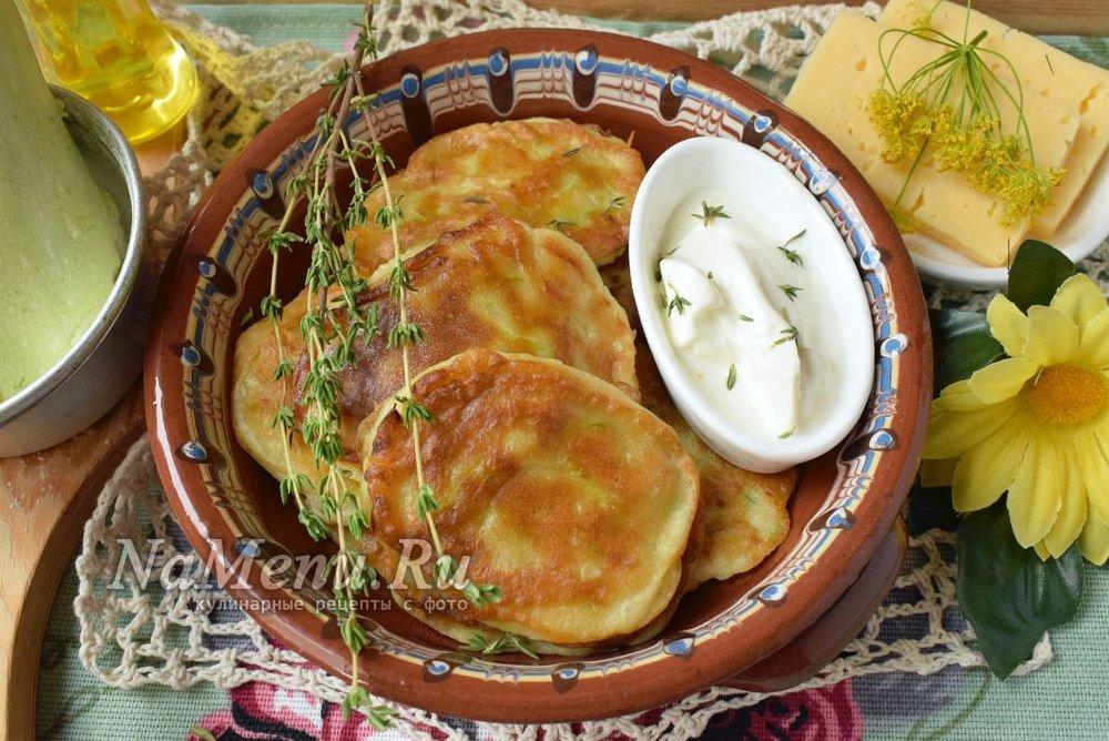 Оладьи с кабачками и кефиром рецепт