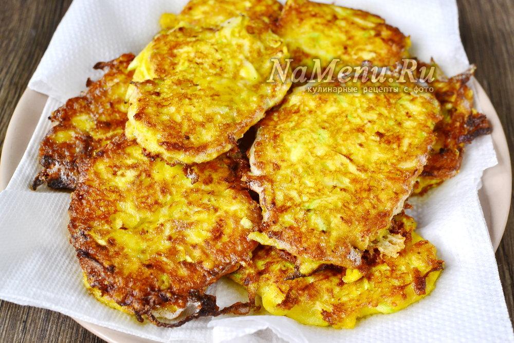 кабачковые оладьи с чесноком и сыром рецепт