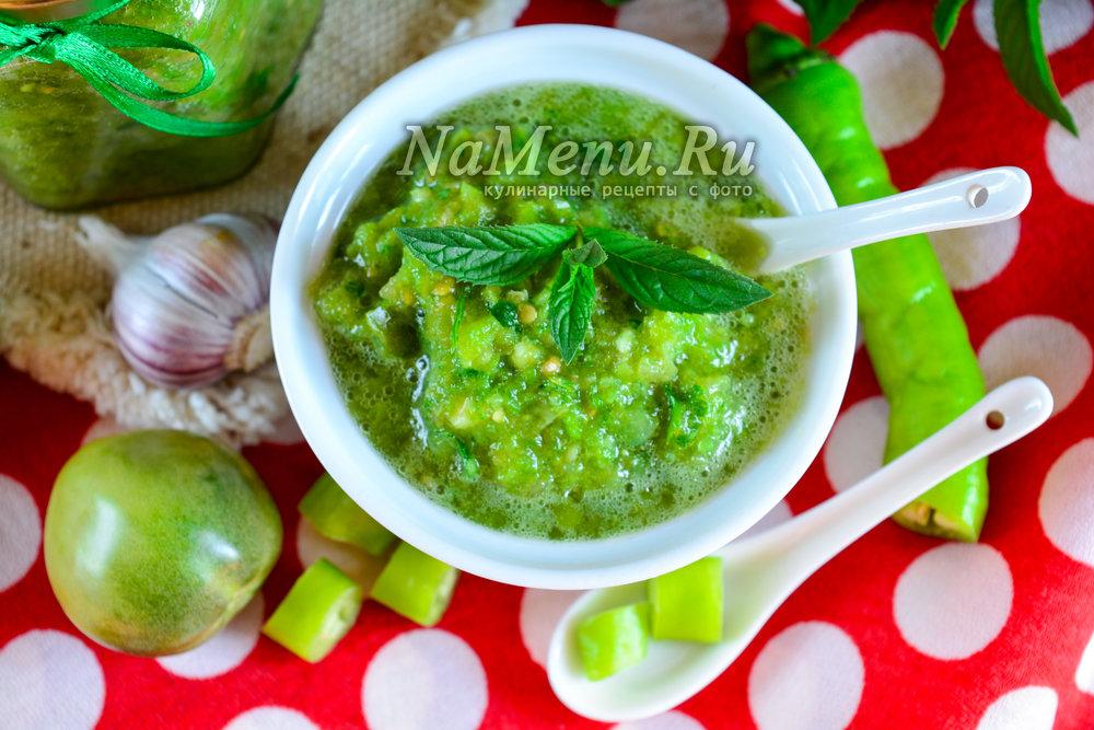 Рецепты аджики из зеленых помидор