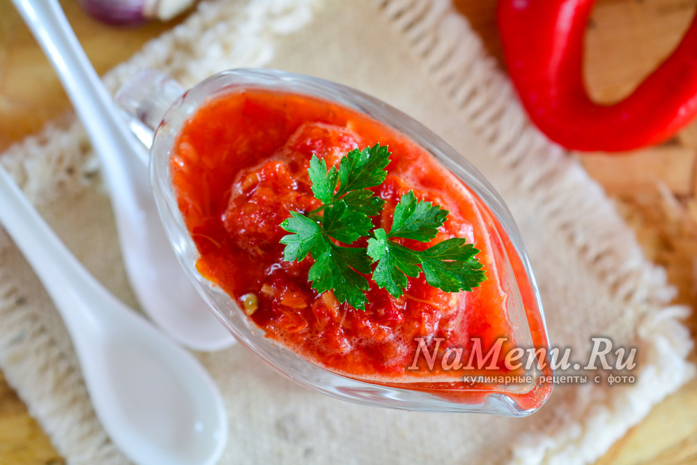 Как сделать аджику из помидоров с чесноком с варкой