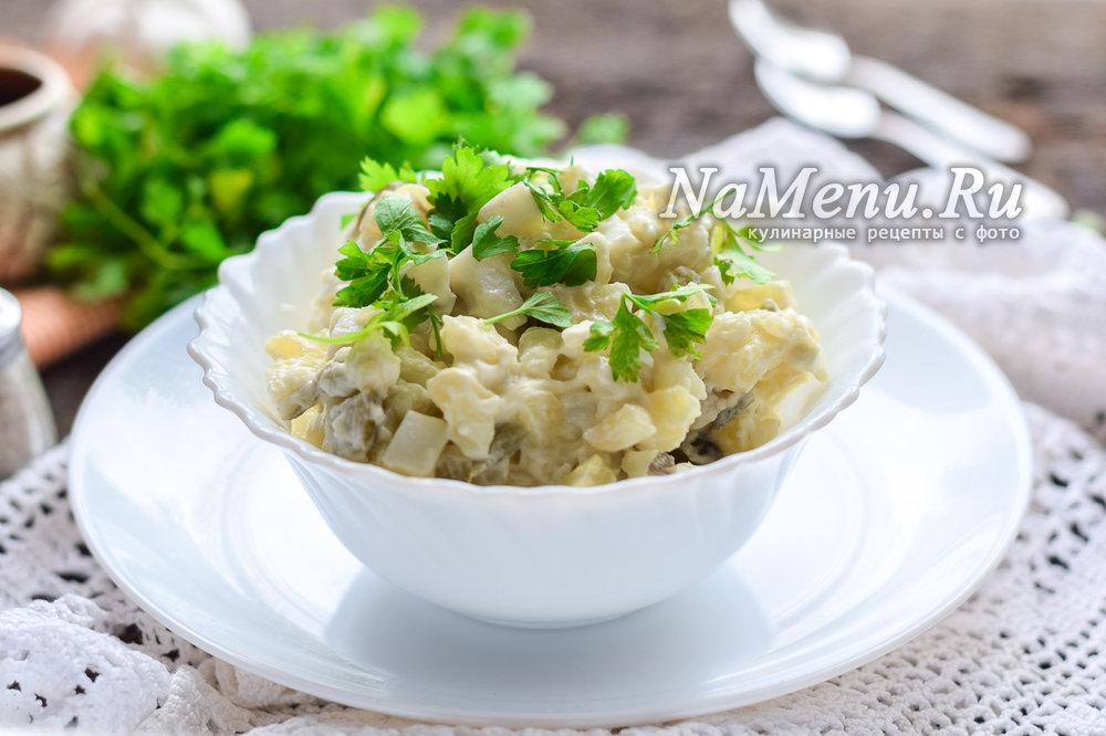 Салат из куриных желудков рецепт очень