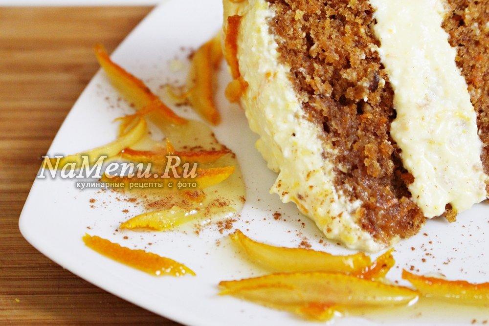 морковный торт с корицей рецепт с фото пошагово