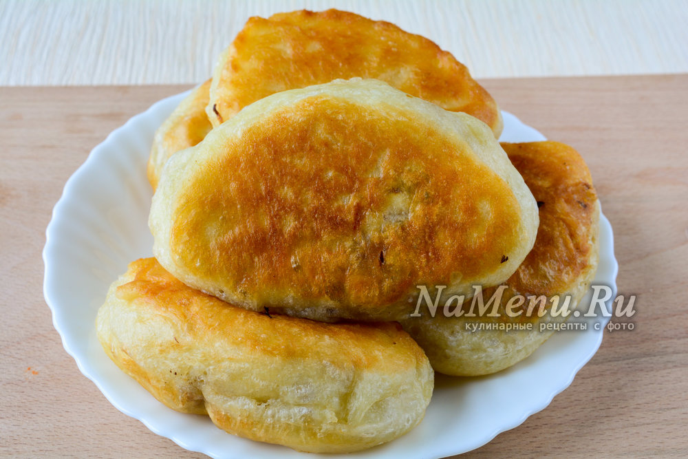пирожки с капустой на сковороде рецепт с фото