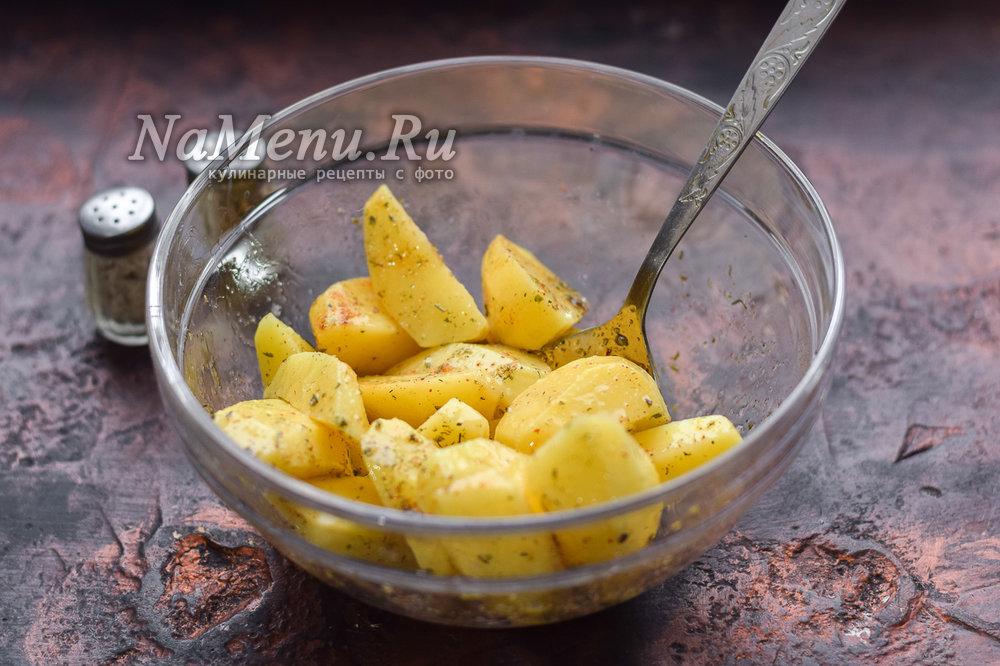 Картошка с золотистой корочкой в духовке рецепт 74