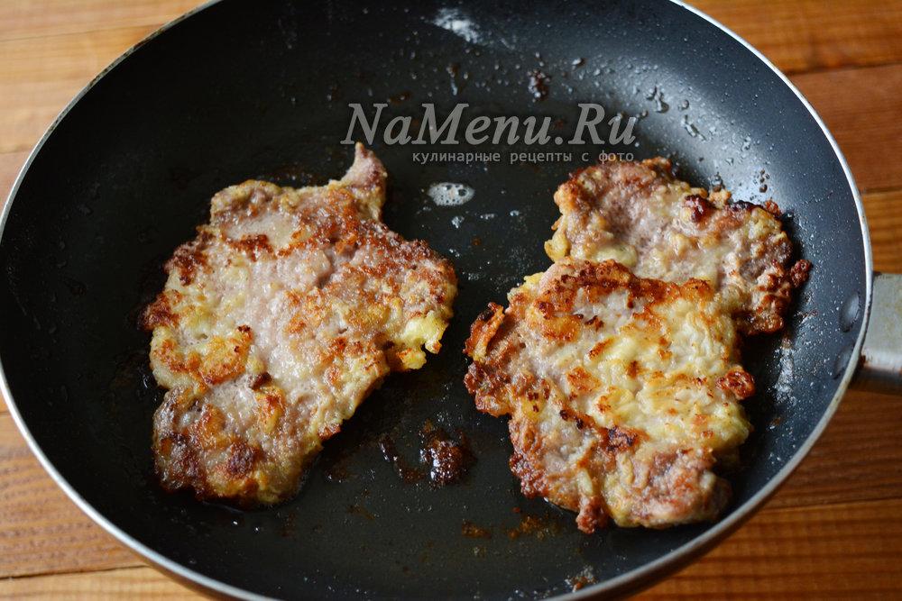 сочные отбивные из свинины на сковороде рецепт с фото пошагово