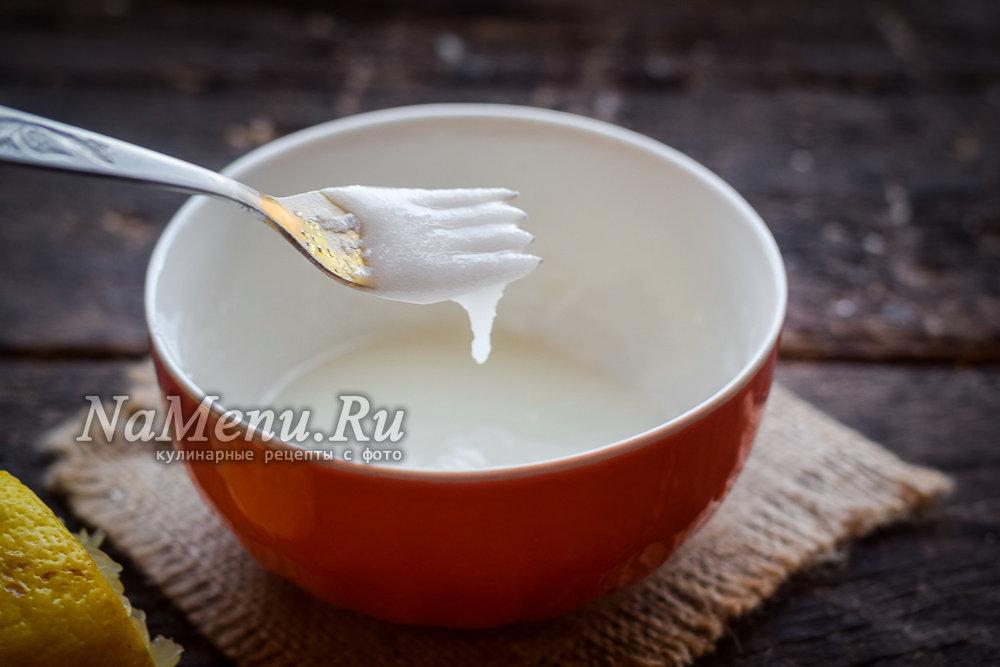 Как сделать глазурь из сахара и лимонной кислоты
