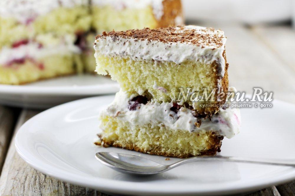 Торт со взбитыми сливками в домашних условиях рецепт пошагово со