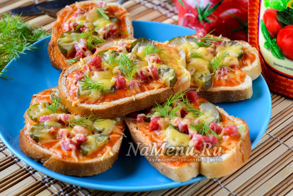 пицца из батона в духовке рецепт с фото