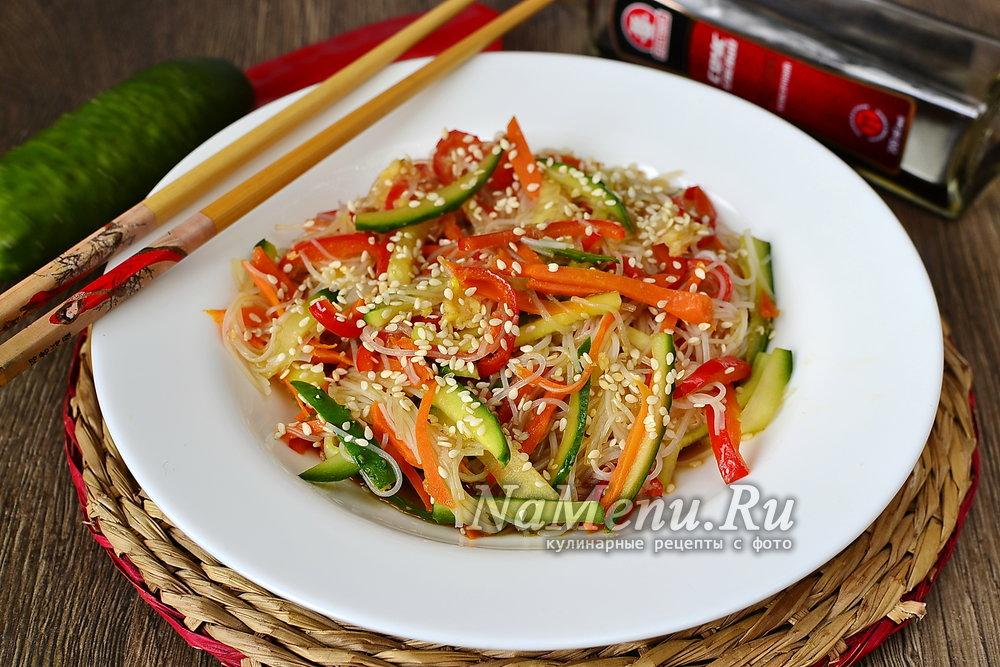 фунчоза с овощами рецепт с фото и пошаговым приготовлением
