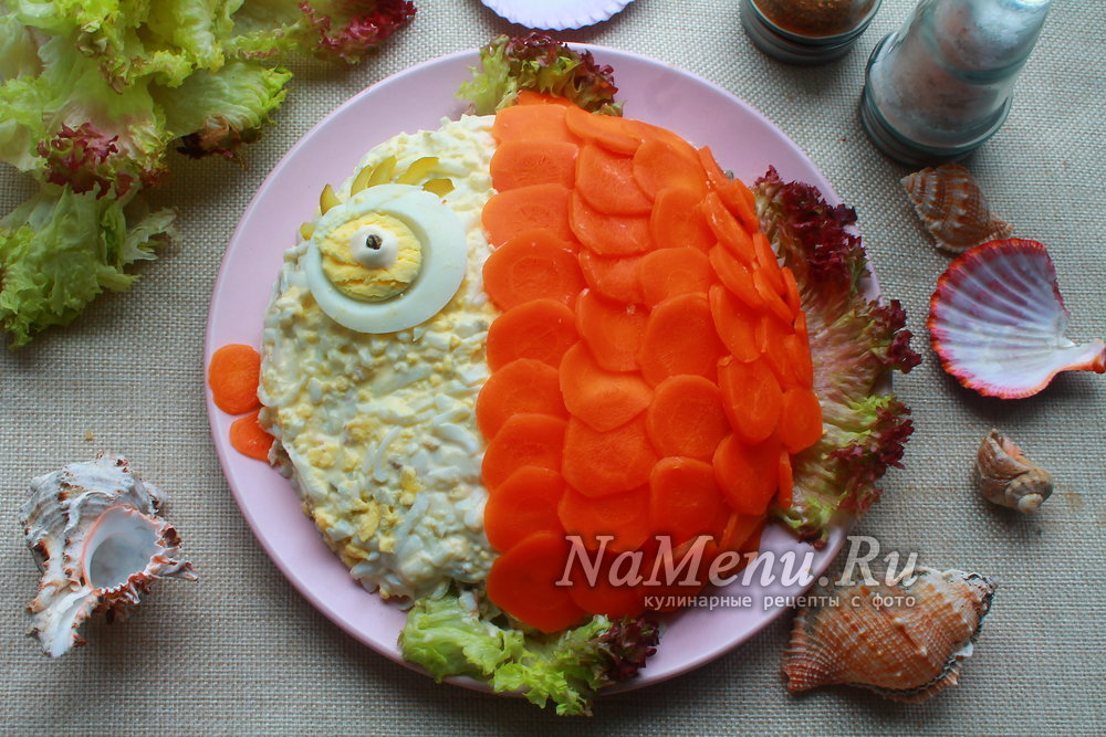 Салат золотая рыбка рецепт пошагово в 31