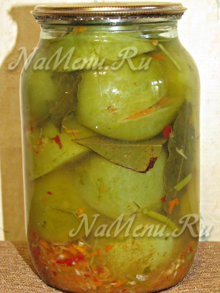 Зеленые помидоры самый вкусный рецепт с фото