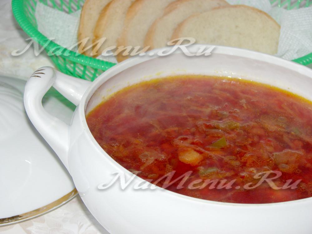 Борщ с чечевицей рецепт с пошагово