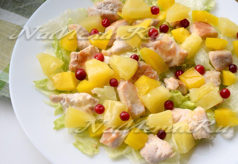 рецепт салата ярославна с курицей