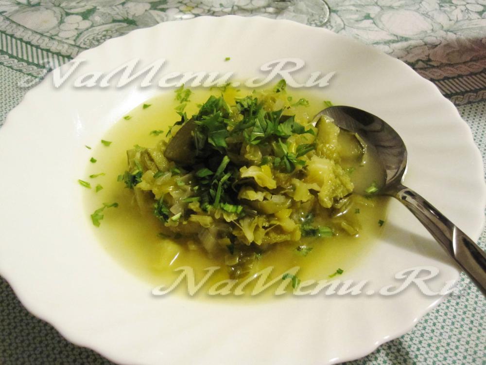 рецепт щей со свежей капустой в мультиварке