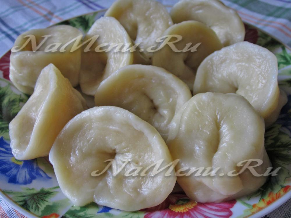Манты с картошкой и салом пошаговый рецепт
