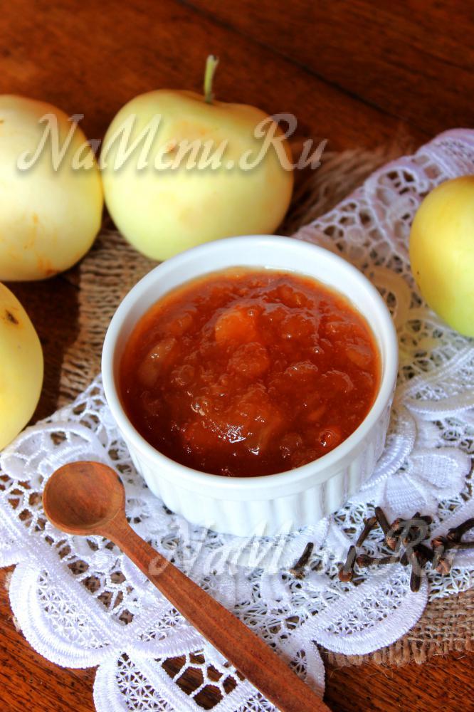 Яблочный джем рецепт быстро