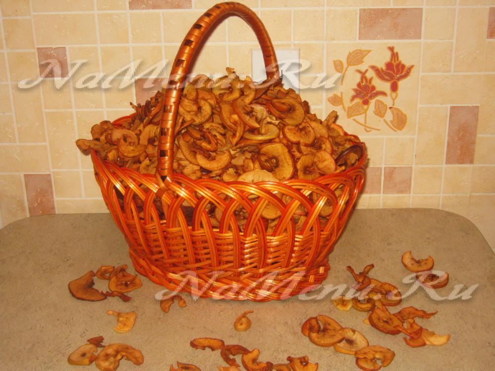 Как сделать сушеные яблоки в домашних условиях в 489