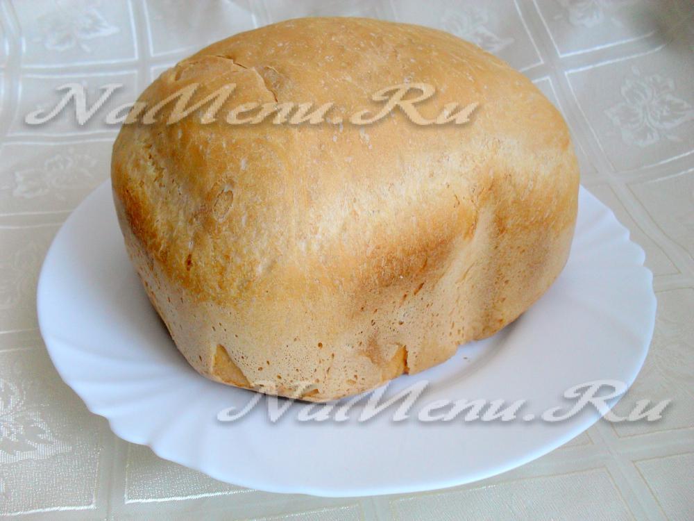 Рецепт приготовления домашнего хлеба в хлебопечке