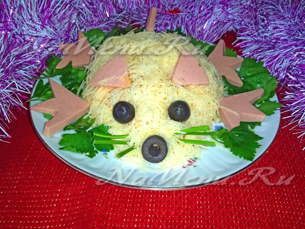 салат в виде мышки рецепт с фото