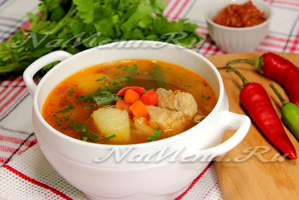 Суп со свининой и грибами рецепт с пошагово