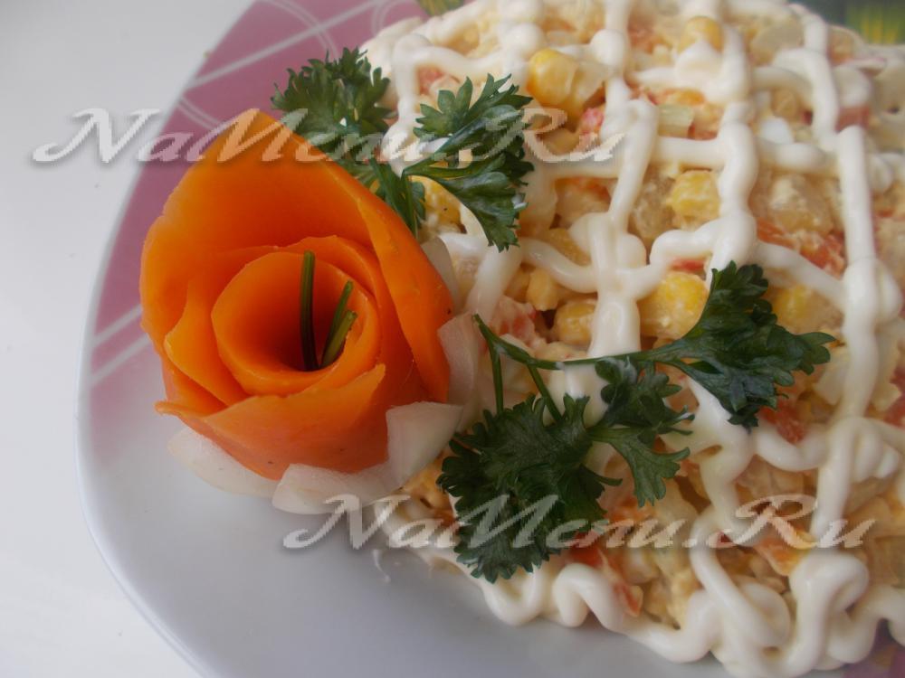 роза из моркови пошаговое фото
