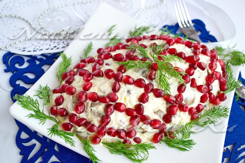 очень вкусный салат с грибами рецепт