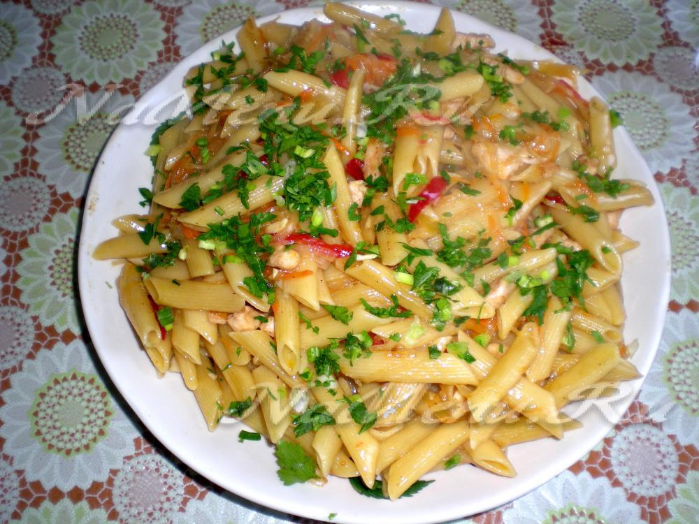 блюда из макарон рецепты с мясом