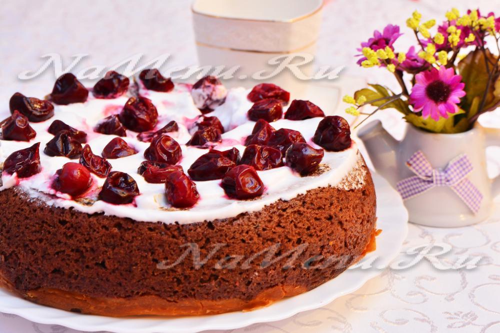 185Шоколадно творожный торт пошагово с