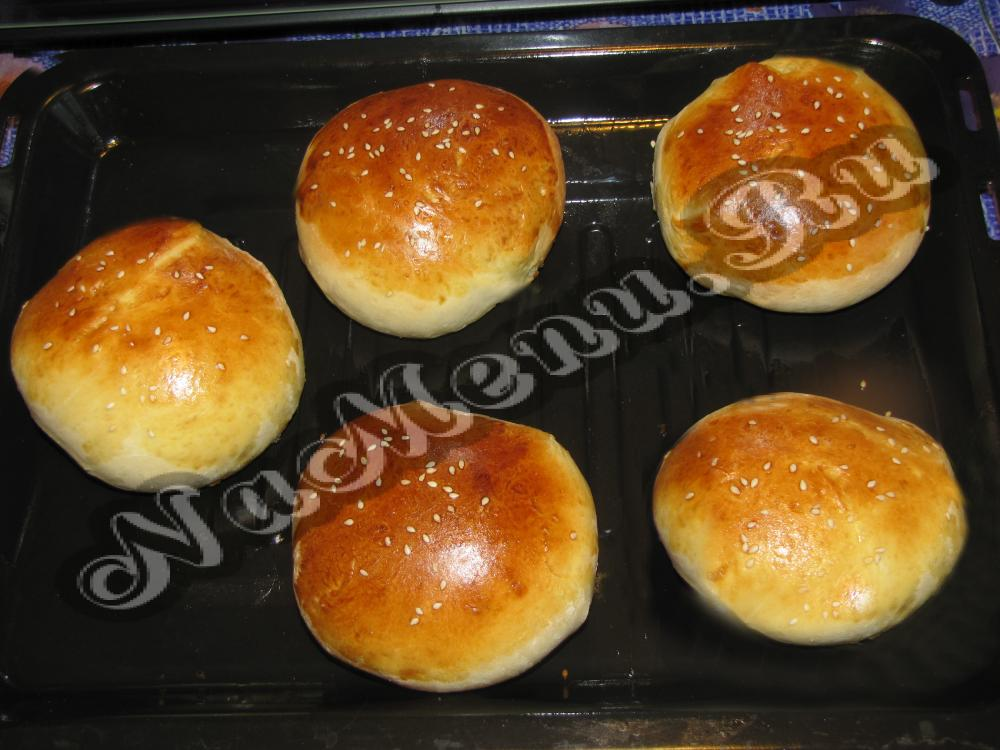Булочки гамбургер в домашних условиях рецепт фото 4