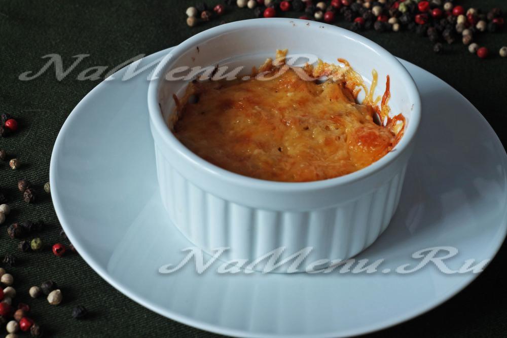 жульен с курицей и грибами в духовке в форме рецепт с фото