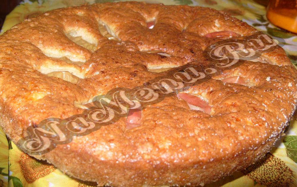 Рецепт пирога с яблоками и творогом в духовке пошагово 6