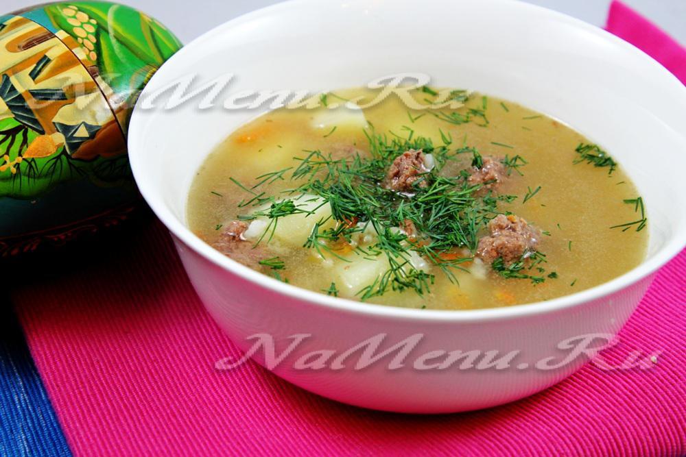 рисовый суп с фрикадельками рецепт с фото пошагово