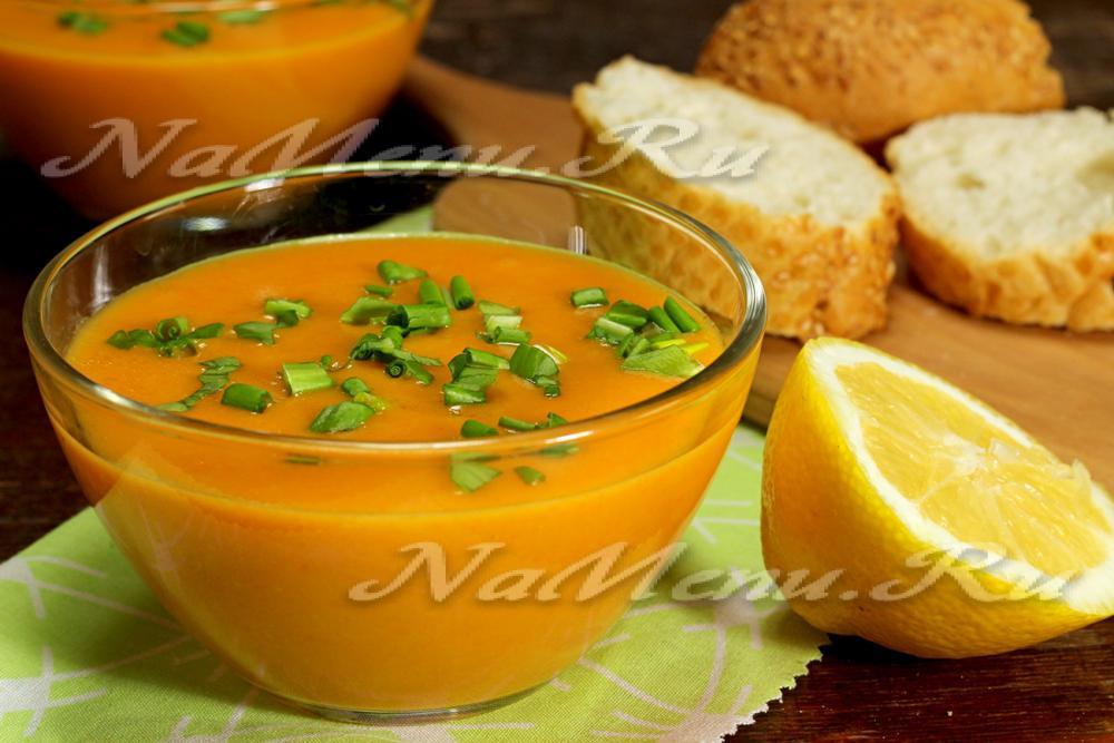 овощной суп с тыквой и кабачком рецепт