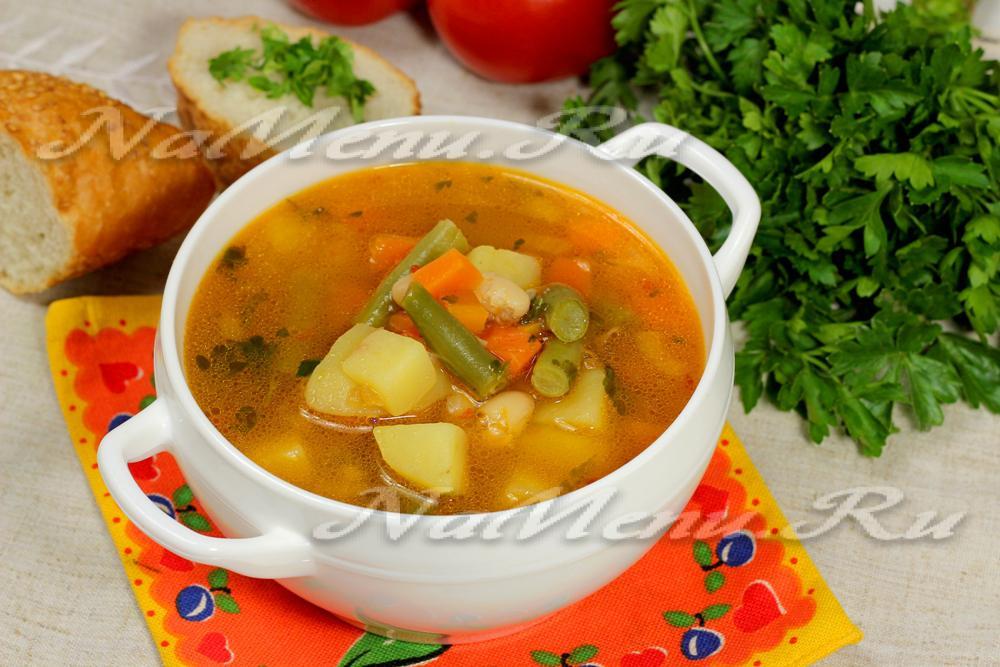 рецепт супа с сухой фасолью рецепт