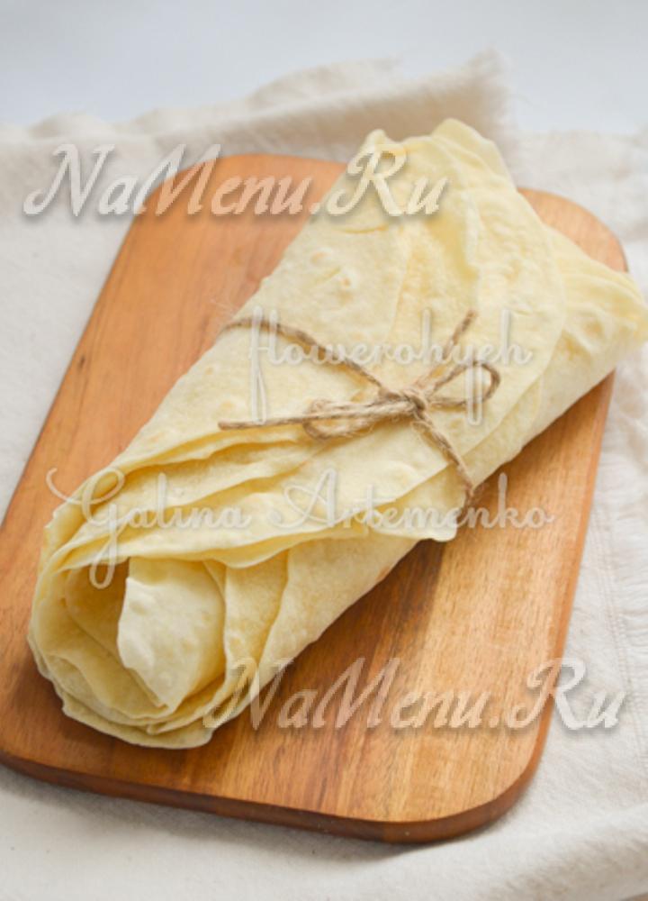 Тесто для тонкого лаваша рецепт
